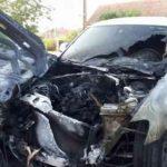 Autoturismul unui medic a ars ca o torță