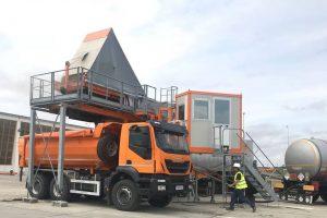 Foto. Direcţia Regională de Drumuri Timişoara are propria staţie de asfalt