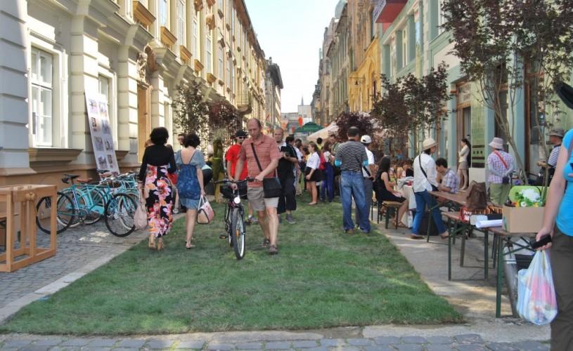 Parcările UVT și grădina urbană se transformă în acest weekend într-un uriaș spațiu al creativității, în evenimentul anual Street Delivery