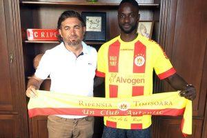 """""""Atacantul de ciocolată"""" a revenit la Timișoara! Gueye Mansour a semnat cu Ripensia"""