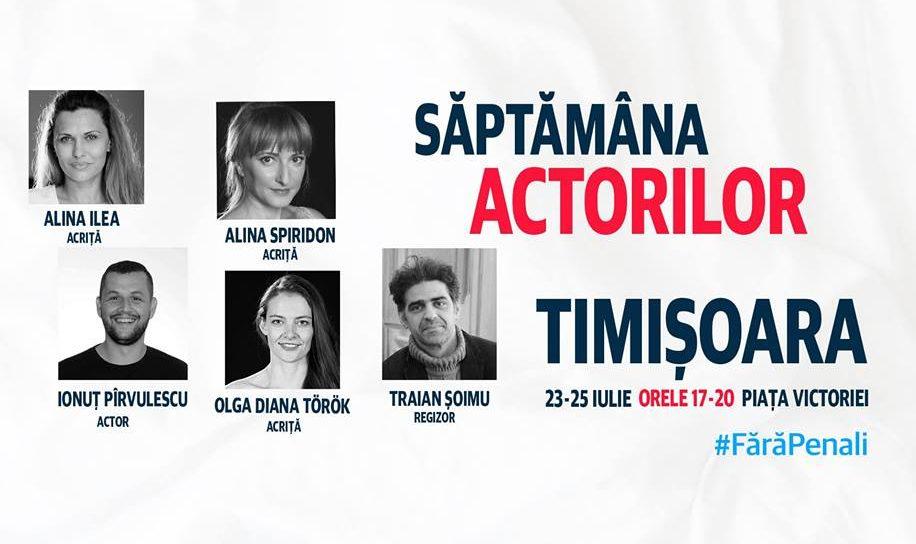 Actorii timișoreni strâng semnături pentru campania #fărăpenali