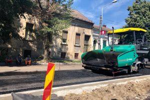 Reparații ale străzilor din oraș