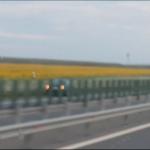 Un șofer a fost filmat mergând pe contrasens pe A1, între Lugoj și Timișoara