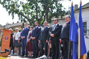 Foto. Ziua Imnului Naţional la Timişoara. Prinţul Nicolae, alături de oficialităţi