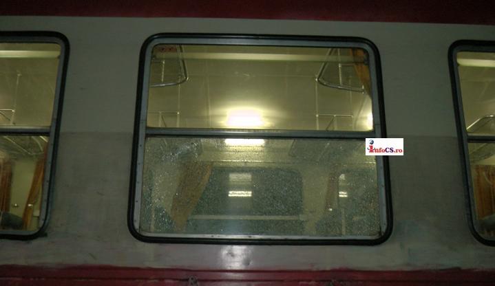 Tren atacat cu focuri de armă, în Reșița