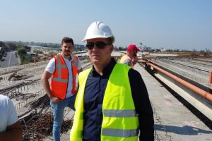 Ovidiu Sîrbu, Secretar de Stat ALDE în Ministerul Transporturilor, ia la puricat lucrările de pe autostrada Lugoj-Deva