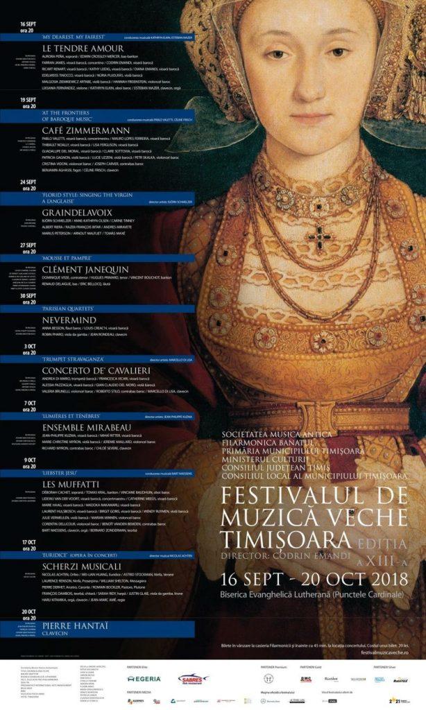 Festivalul de Muzică Veche revine la Timișoara în perioada 16 septembrie – 20 octombrie