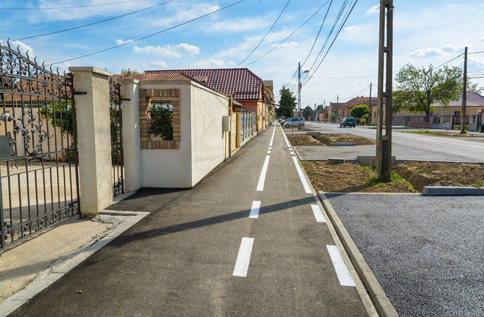 Lucrări de reparații a trotuarelor și pistelor pentru biciclete în Chișoda