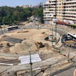 Lucrările de la sensul giratoriu din Piaţa Mărăşti deviază traseul autobuzelor