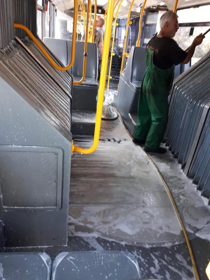 Mijloacele de transport, spălate şi în interior. Ce spune primarul despre noul director al STPT