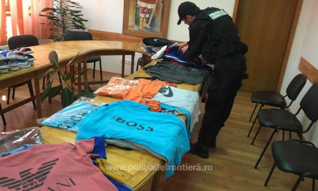 Produse contrafăcute confiscate de polițiștii de frontieră mehedințeni