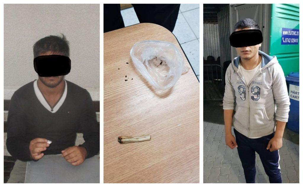 Tineri depistați de polițiștii locali consumând droguri
