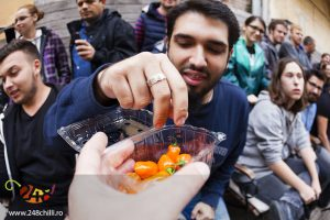 Concurs de mâncat chilli la Timişoara