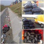 DRDP face curăţenie în urma şoferilor nesimţiţi, dar şi reparaţii pe diverse drumuri