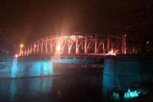 Podul de Fier din Timișoara, iluminat artistic