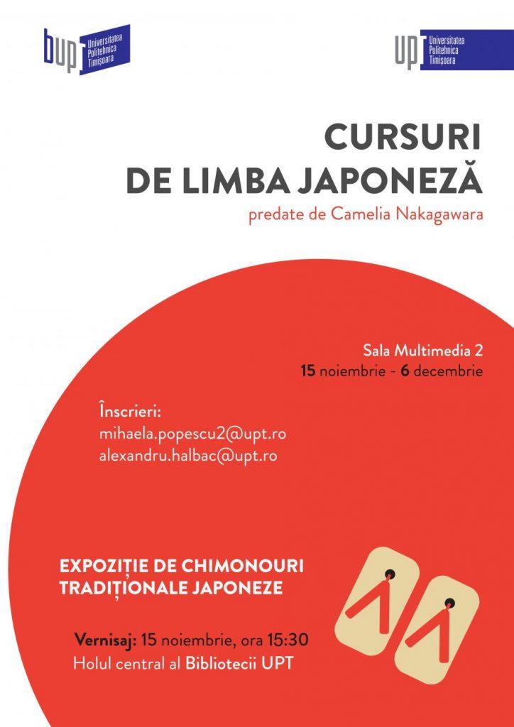 Cultură japoneză la UPT: cursuri de limbă și expoziție de chimonouri