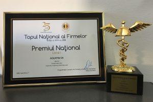 Aquatim, pe locul I în Topul Național al Firmelor