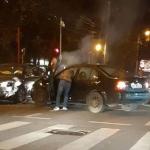 Accident între două mașini! Un bărbat a ajuns la spital