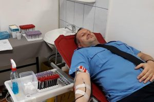 Jandarmii timişeni au donat sânge