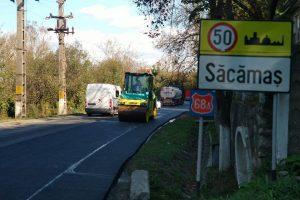 Reîncep reparaţiile pe drumul aflat între limita județului Timiș și Ilia