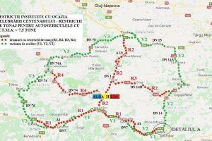 CNAIR impune restricţii de tonaj în zona Alba Iulia de Ziua Naţională