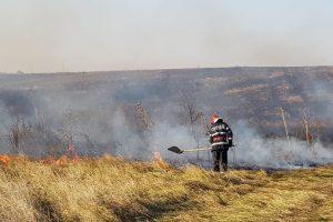 24 de ore de foc pentru pompierii din Arad. Au avut 40 de misiuni