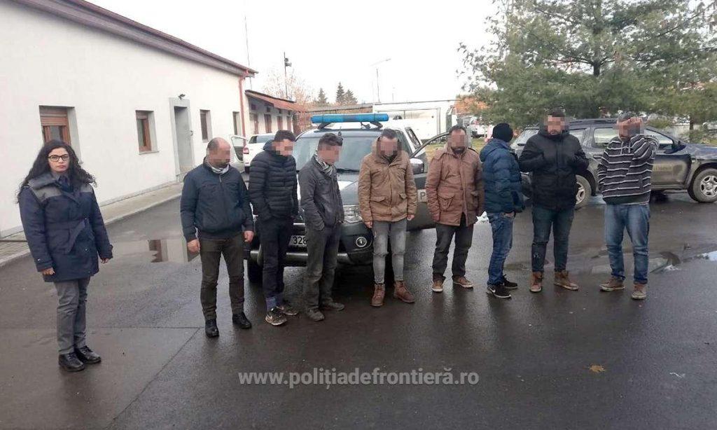 Nouă migranţi, prinşi în Timiş la frontiera cu Serbia