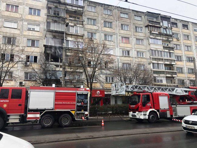Incendiu violent la un apartament din Timișoara