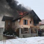 VIDEO/Incendiu violent la o vilă din Săcălaz