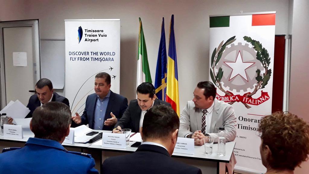 Punct de contact în caz de urgență, pentru cetățenii italieni, la Aeroportul Timișoara