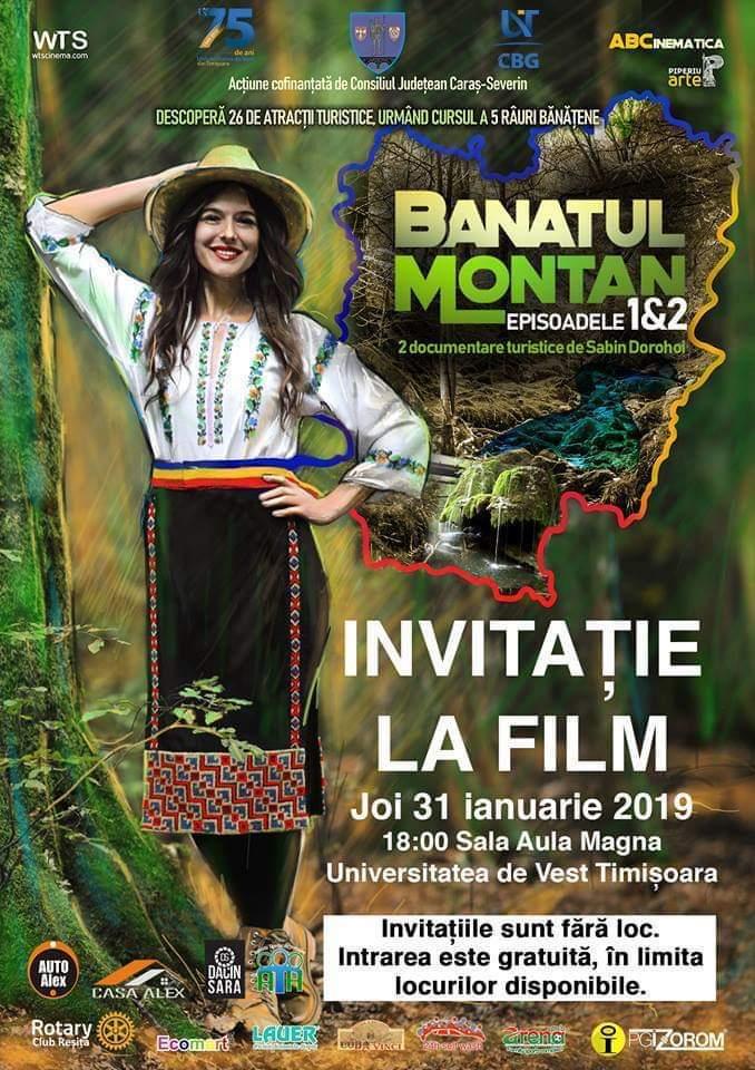Frumuseţile din Banatul Montan, prezentate la UVT în două episoade ale unui film regizat de Sabin Dorohoi