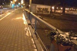 Jardinierele de pe Podul Michelangelo, deteriorate din nou