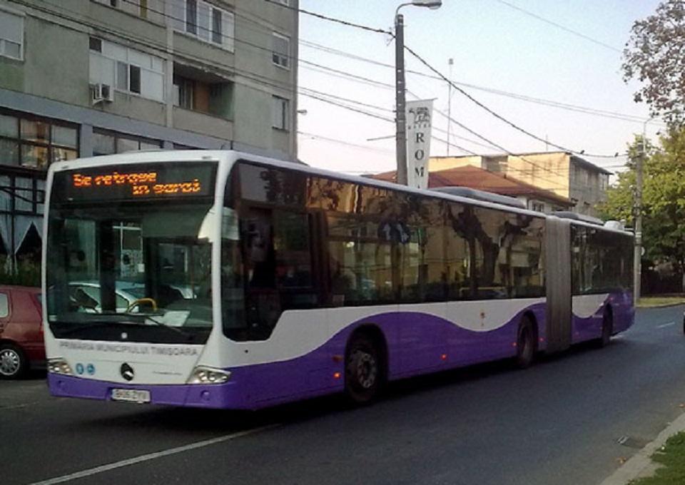 Traseul a două autobuze STPT, modificat sâmbătă