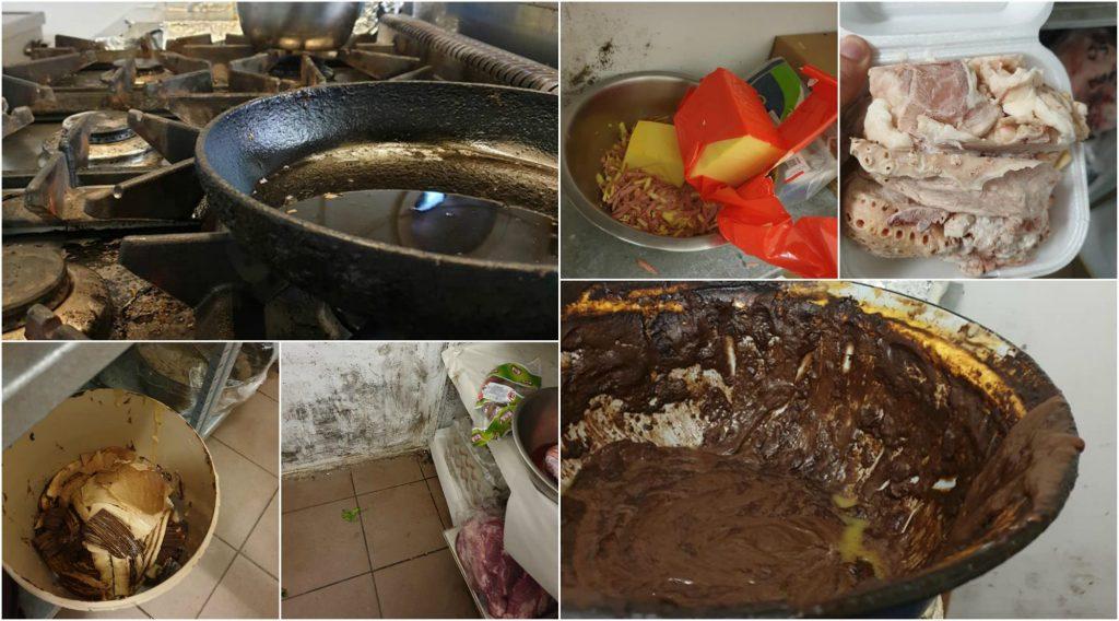 Mâncare pregătită pentru bolnavi în condiții de neimaginat
