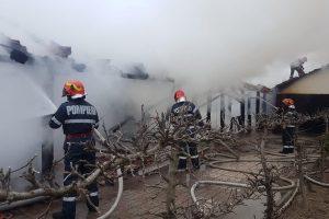 Incendiu la Cenad. Proprietara locuinței a fost dusă de SMURD la spital