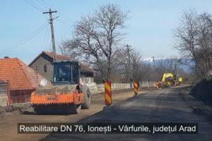 DRDP continuă lucrările de reabilitare a DN76, sectorul Ionești – Vârfurile