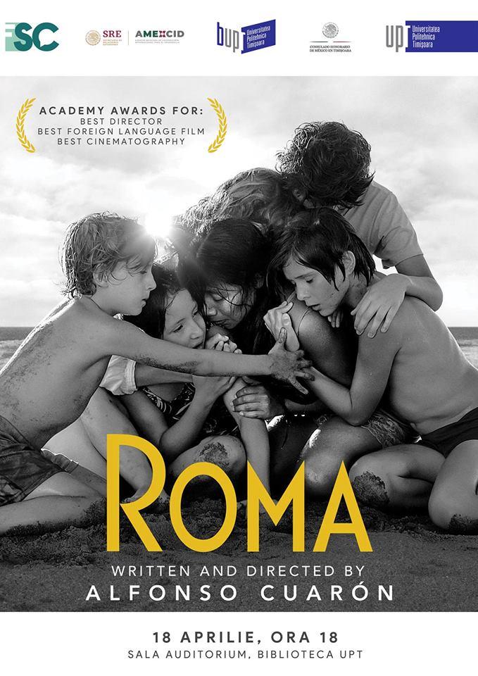 """Filmul de Oscar """"Roma"""", în premieră națională la UPT. Intrarea este liberă"""