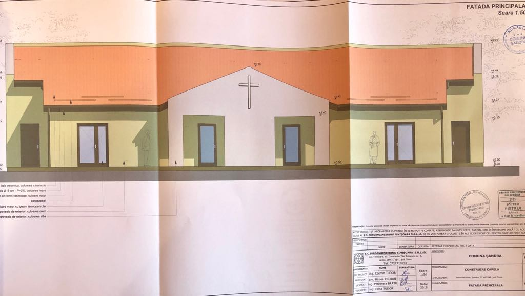 Vor începe lucrările la noua capelă din comuna Șandra