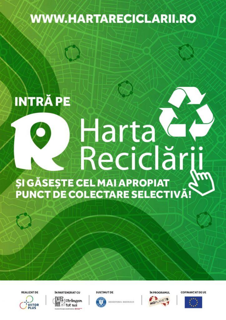 S-a lansat Harta Reciclării pentru localizarea punctelor de colectare selectivă a deșeurilor reciclabile