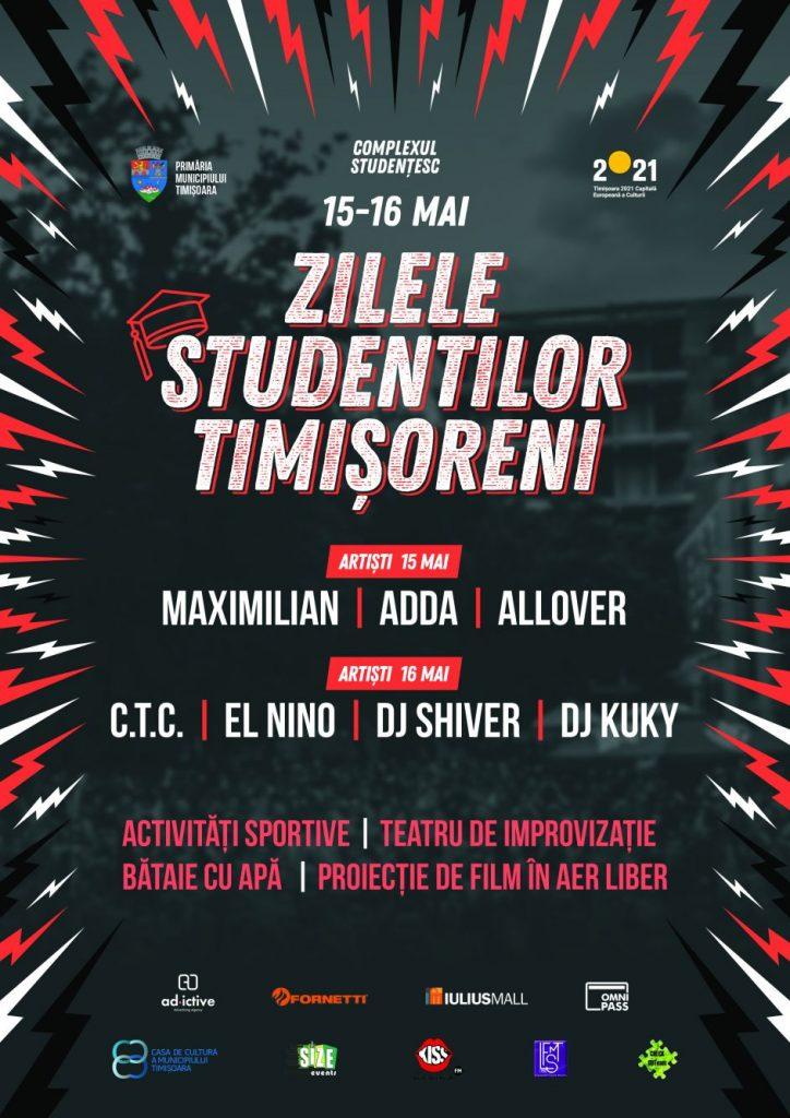 Concerte, concursuri şi proiecţie de film la Zilele Studenţilor