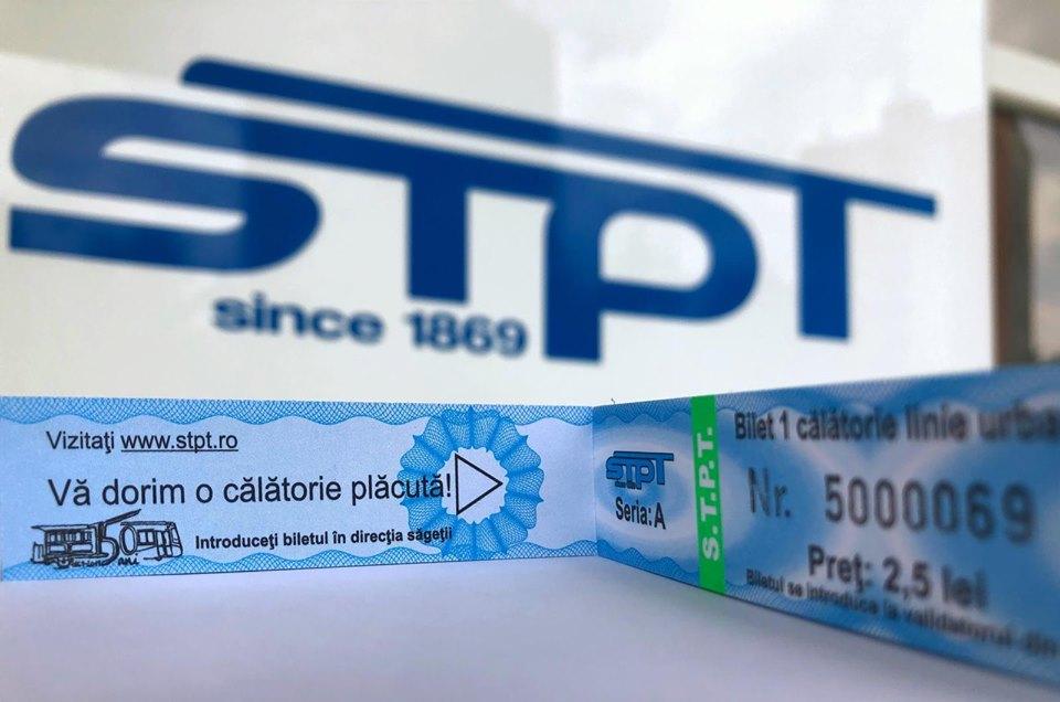 Bilete aniversare la STPT