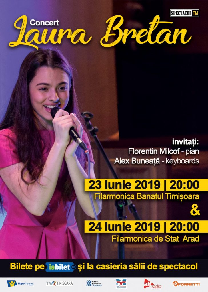 Laura Bretan revine la Timișoara pentru a susține un concert extraordinar