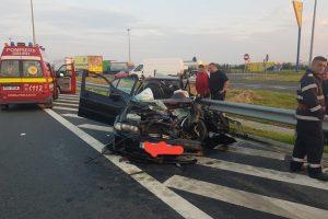 Şoferul fugar, care a provocat o tragedie în zori, pe autostradă, a fost prins. Era băut