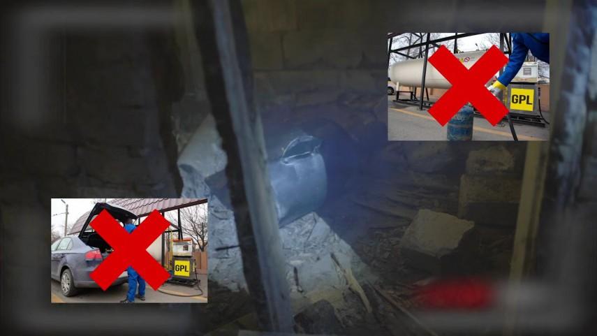 Pompierii avertizează: Nu mai încărca butelia la pompa de vânzare GPL auto!