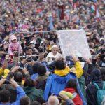Semn divin în momentul în care Suveranul Pontif a ajuns la Șumuleu Ciuc