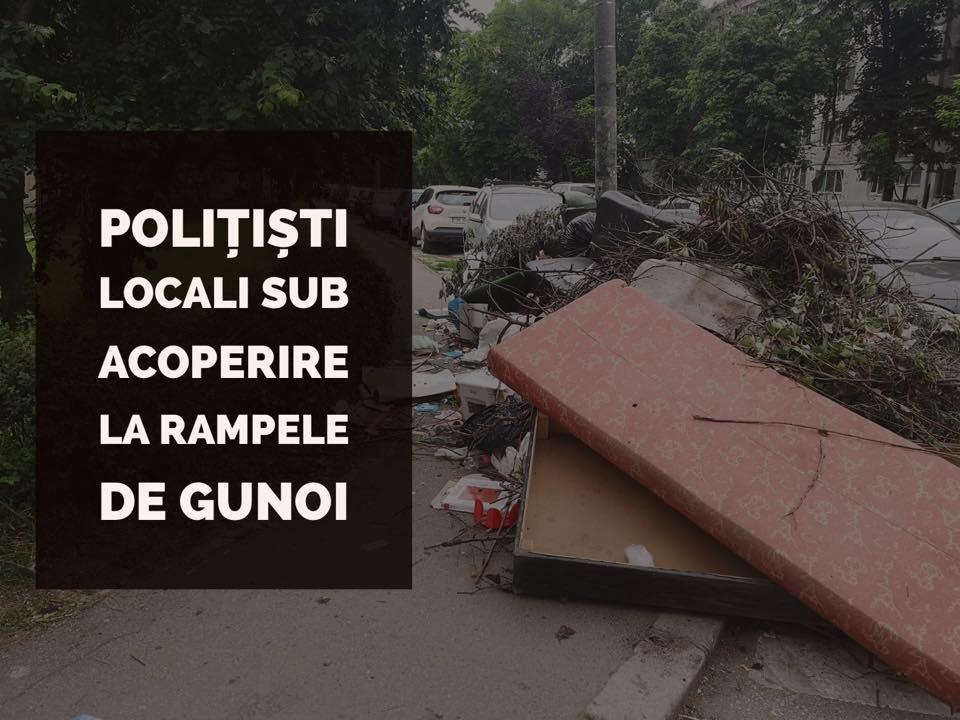 Poliţişti locali sub acoperire la rampele de gunoi