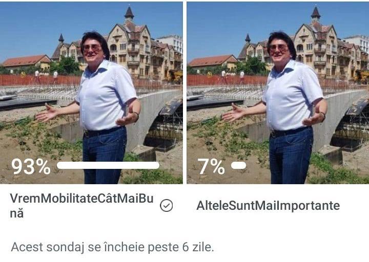 Robu face un nou sondaj. Când promite finalizarea lucrărilor la podul de pe Dragalina
