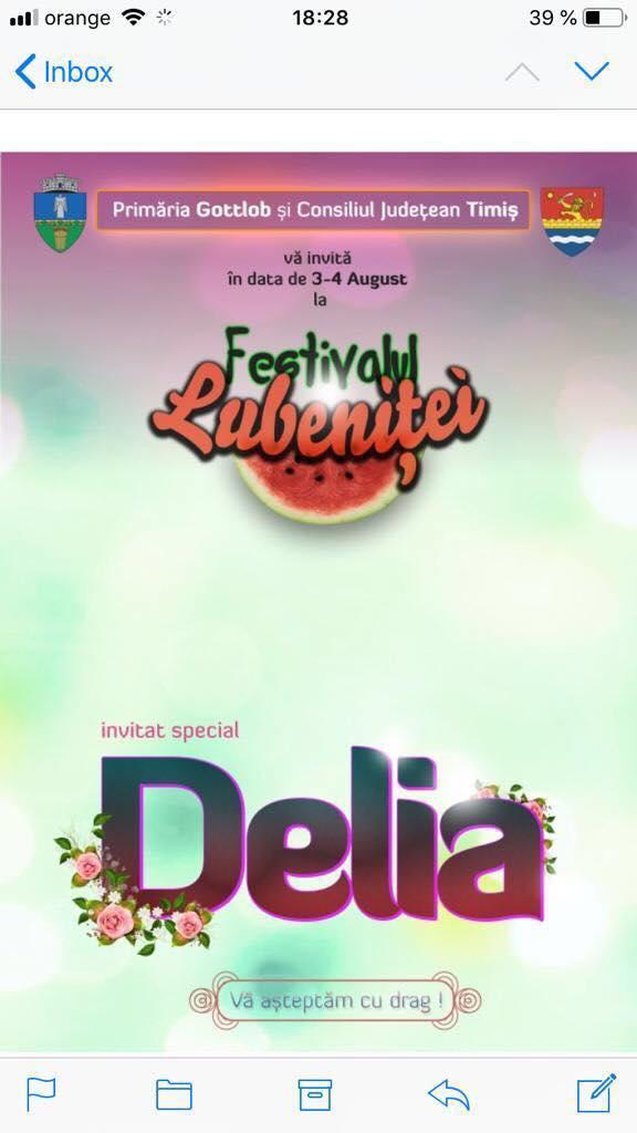 Delia cântă la Gottlob în 3 august