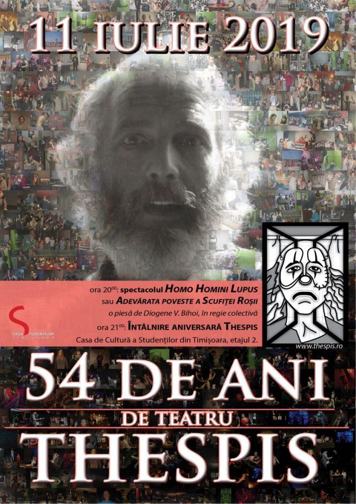 Teatrul Thespis al Casei de Cultură a Studenţilor aniversează 54 de ani de existenţă