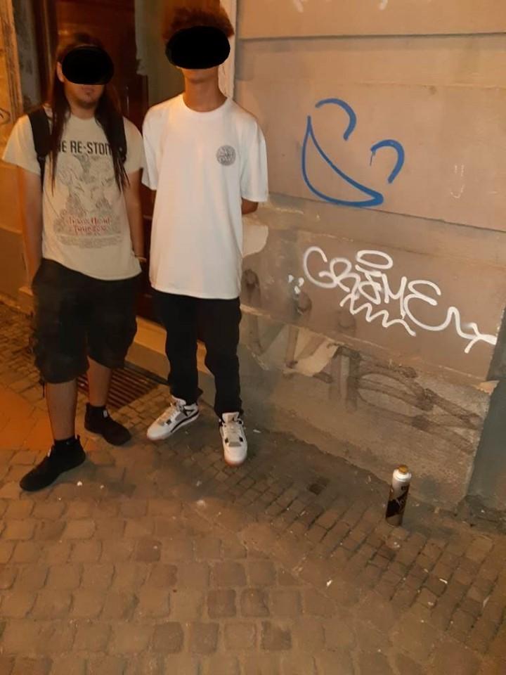 Amendă maximă pentru doi adolescenţi pasionaţi de grafitti